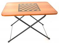 Стол туристический игровой  складной  с шахматной сеткой, размер столешницы– 750х500мм
