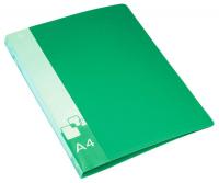 папка на 4х кольцах зелёная