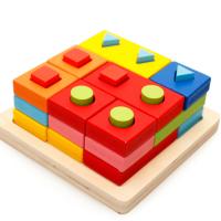 Игрушка деревянная пирамида головоломка 3 на 3, 36+ MWZ-5068