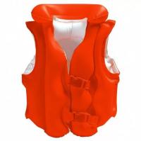 Жилет детский надувной красный 49х46см от 3 до 6 лет