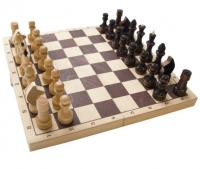 Шахматы 400х200х55 Гроссмейстерские (дерево) Классика, Материал корпуса: лакированное дерево (береза)