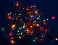 Гирлянда 180 ламп (черные провода)