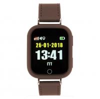 Детские часы с GPS Smart Baby Watch G601X кожаный ремешок
