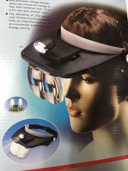 Бинокулярные очки с подсветкой и сменными линзами  81001-A