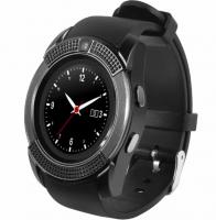 Умные часы Smart Watch Tiroki V8 (круглые, флеш карта, диктофон, фитнес, твитер, вацап...)