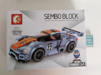 """Конструктор Famous Car """"Серая гоночная машина №22"""" 179 дет 607050 SEMBO BLOCK"""