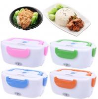 Контейнер для еды Lunch Box ланчбокс 2 отделения с электро подогревом от сети (цвет в ассортименте)