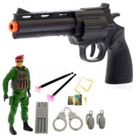 Набор солдата пистолет фигурка свисток и аксессуары REAL HEROES