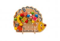 Шнуровка Ёжик деревянная игрушка 5057