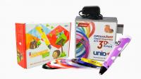 ПРОМОНАБОР 3D ручка Spider Pen LITE с ЖК дисплеем, цвета микс + UNID Набор пластика для 3D ручек с ОРГАНАЙЗЕРОМ UNID PRO-9 (по 10м. 9 цветов в коробке)