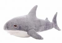 Мягкая игрушка Акула Блохэй серая 100 см