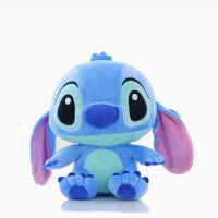 Лило и Стич Голубой Стич мягкая игрушка - брелок 10 см