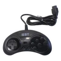 Геймпад (джойстик) для Sega 16 bit черный (узкий разъём 9 pin)
