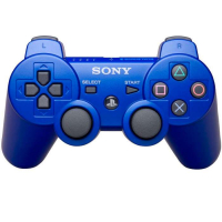Джойстик PS 3  Controller Wireless Dual Shock Blue СИНИЙ аналог блистер