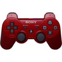 Джойстик PS 3  Controller Wireless Dual Shock Red КРАСНЫЙ аналог блистер