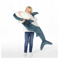 Мягкая игрушка Акула Блохэй синяя 100 см