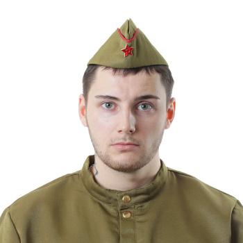 """Пилотка """"Солдат"""" для взрослых"""