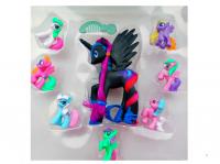 Мой Маленький Пони набор 8 фигуркок в коробке SM2009