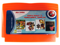 Картридж Dendy 4в1  AA-2486 CHIP & DALE 1+2+TOM & JERRY+TANK 90