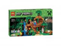"""Конструктор My World Мой Мир """"Домик на дереву в джунглях"""" 10471 718 дет BELA"""