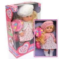 Кукла Пупс Девочка в берете с аксессуарами для причесок  функциональная/коробка (24*21*11) №YL1868A