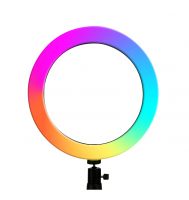 Круговая разноцветная селфи лампа, световое кольцо диаметр 20 см, без штатива
