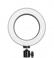 Круговая селфи лампа, световое кольцо, диаметр 20 см, без штатива