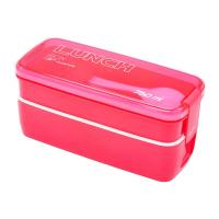Контейнер для еды Lunch Box ланчбокс  2 отделения, 750 мл (красный)