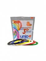 UNID Набор пластика для 3D ручек: ABS6 (по 10м. 6 цветов в пакете)
