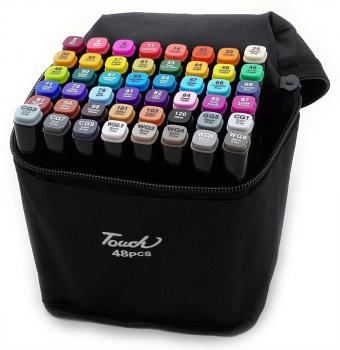 Фломастеры для скетчинга markers for sketches 48 цветов