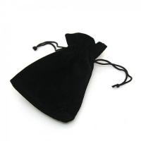 Черные бархатные мешочки под кулоны и часы