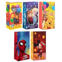Мини пакет с персонажами подарочный без ручек