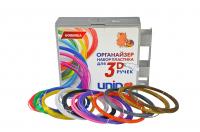 UNID Набор пластика для 3D ручек: PRO9 + органайзер + головоломка в ПОДАРОК (по 10м. 9 цветов в коробке)