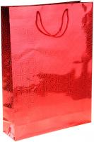 Пакет голография 8 х 11 х 4 см, цвет красный, рисунок МИКС