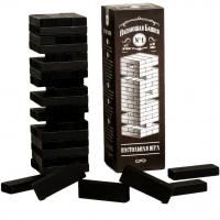 """Падающая башня"" настольная игра взрослая Jack Daniels мини, дерево, 5,5х5,5х18,5см"
