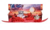 """набор  ТМ """"Космический песок"""" """"Космическое путешествие"""", красный светится в темноте, пластичный, формочки, песочница,1кг"""