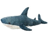 Мягкая игрушка Акула Блохэй синяя 120 см