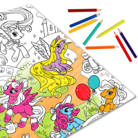 """Раскраска (разукраска) гигант """"Мир моих маленьки пони"""""""
