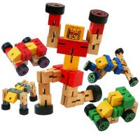 Игрушка Деревянный робот трансформер