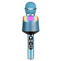 Караоке микрофон с Bluetooth блютуз светящийся (цветомузыка) Q008