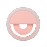 Светодиодное селфи лампа-кольцо, с прищепкой, с аккумулятором, для телефона или смартфона, для фотографий selfie.