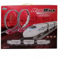 ЖЕЛЕЗНАЯ ДОРОГА двойная мертвая петля  Rail Track 4112