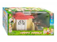 Счастливая семья HAPPY FAMILY ДОМИК с мебедью + 3 фигурки 012-04