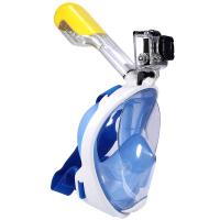 Полнолицевая подводная маска для снорклинга Easybreath с креплением под экшн камеру