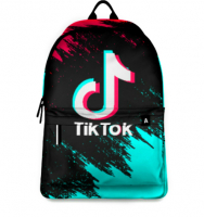 Рюкзак Tik-tok Тик-ток молодёжный, твёрдая спинка USB-порт два отделения принт