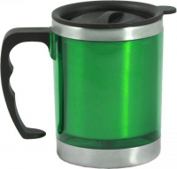 "Термокружка ""Таллер"", 450 мл, зелёная, 11х12 см"