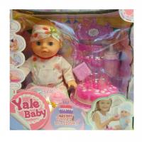 Кукла Пупс типа беби бон функциональный/коробка (32*31*16) комбез повязка на голову торт пьет писает YL1822H