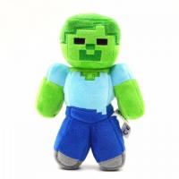 Зомби Майнкрафт мягкая игрушка 10см