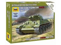 """Сборная 4D модель """"Советский танк Т-34/76 (образца  1940г.)"""" пластик Zvezda"""